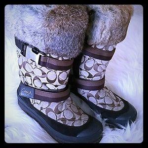 Coach Rabbit Fur Winter Boots